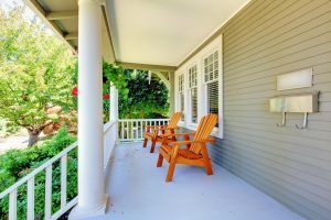 unscreened porch